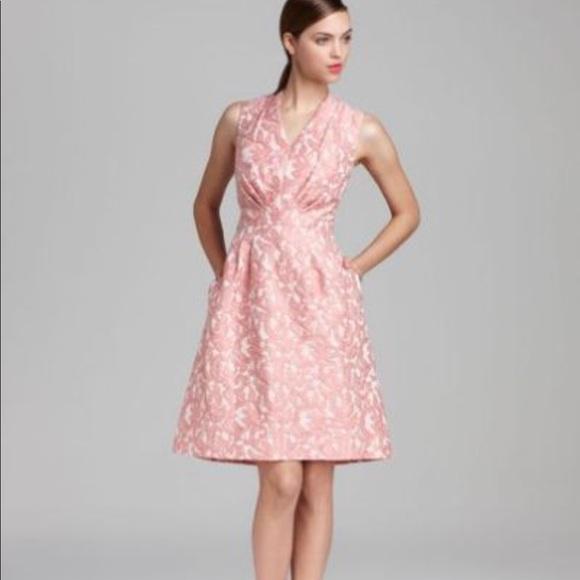 Adrianna Papell Dresses Pink Jacquard Dress | Poshmark